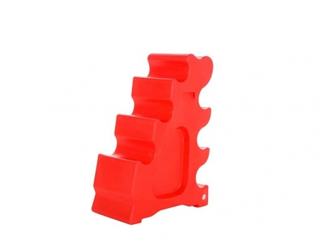 Jumping block rood